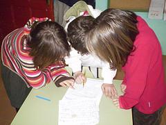 Tania, Fran y María.